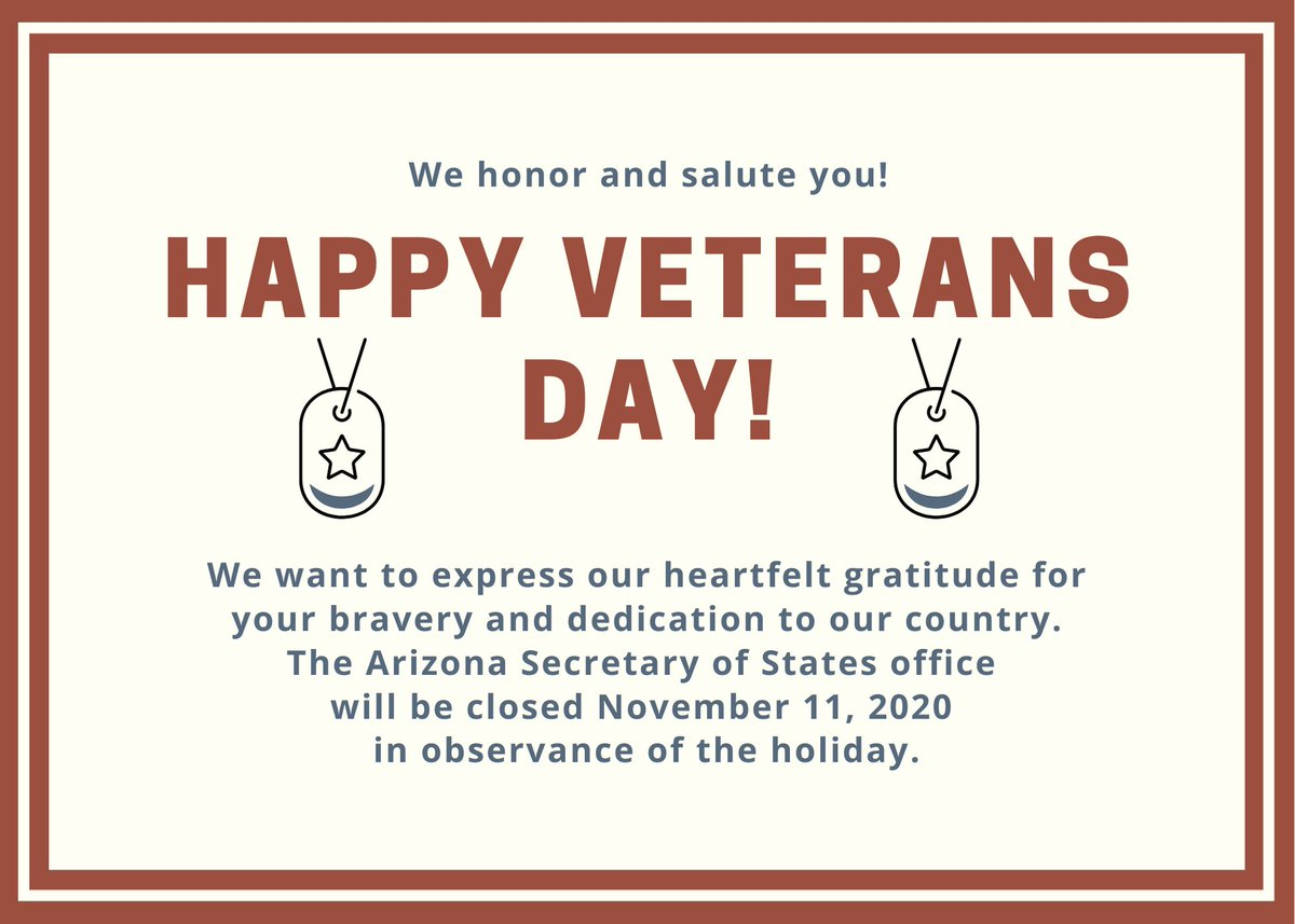 Our office is closed on November 11, 2020, in observance of Veterans Day. Thank you to those who have served.