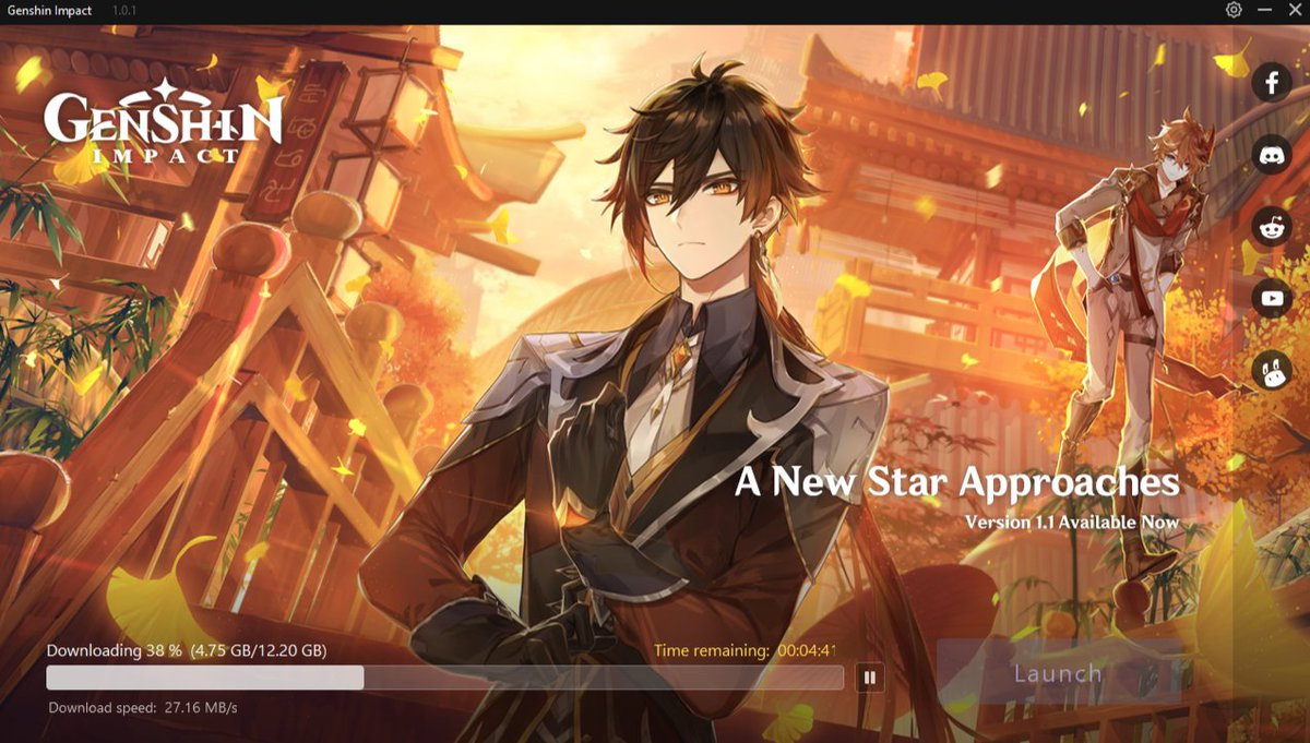 Zeniet On Twitter The Genshin Impact Pc Launcher Now Has A New Appearance For V1 1 You Can Update The Game Right Now It S A Big Download So Get Started Right Away The