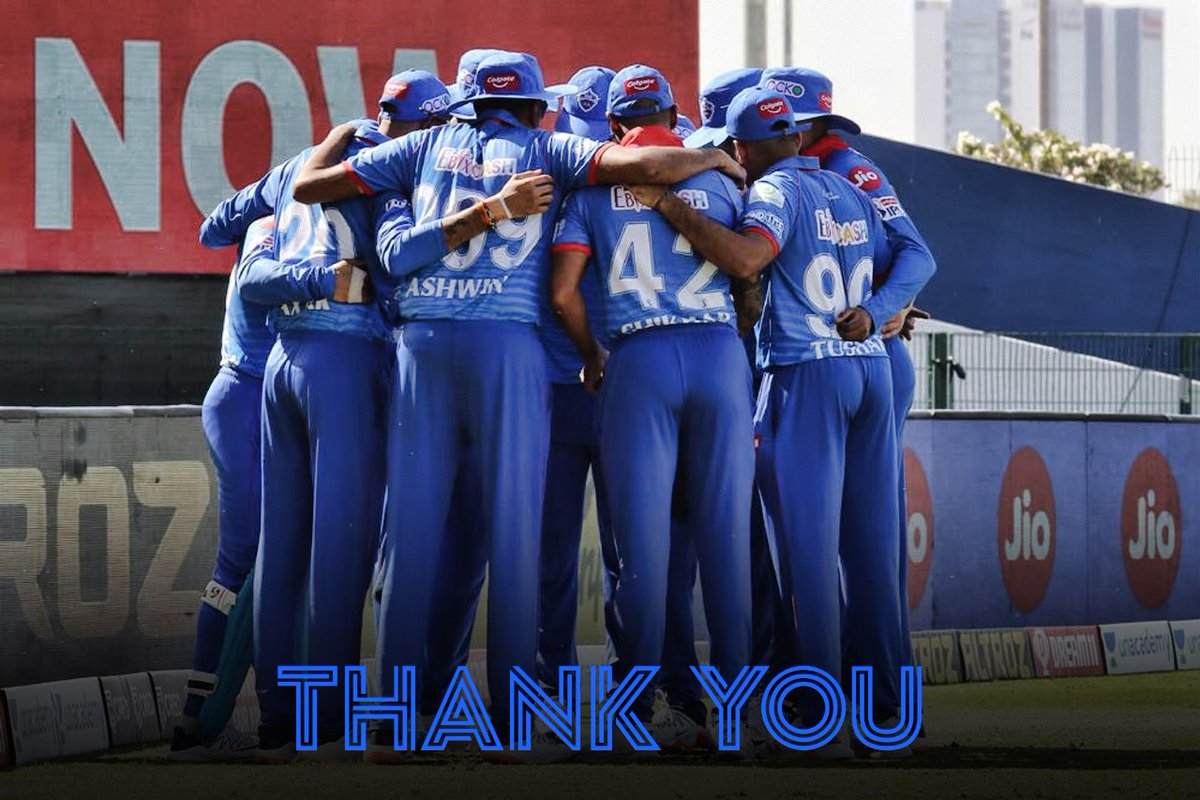 The experience in UAE was made better by a fantastic bunch of people by my side. Grateful for the opportunity to go out there and play cricket again. Thank you to everyone involved at @DelhiCapitals - my teammates, coaches, management, and fans 🙏💙