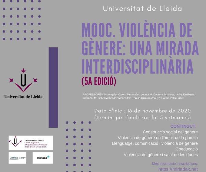 Nova edició del MOOC sobre violència de gènere en la parella