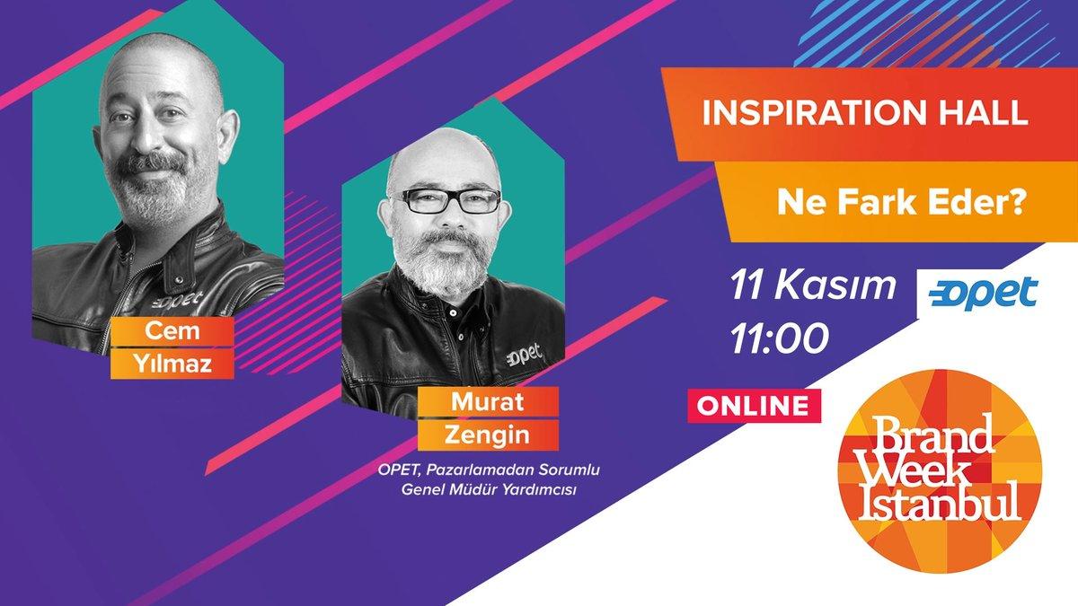 📣 @CMYLMZ ve @OpetTr, Pazarlamadan Sorumlu Genel Müdür Yardımcısı Murat Zengin, ''Ne Fark Eder?'' başlıklı oturumla saat 11:00'de bizlerle olacak. #BrandWeek2020