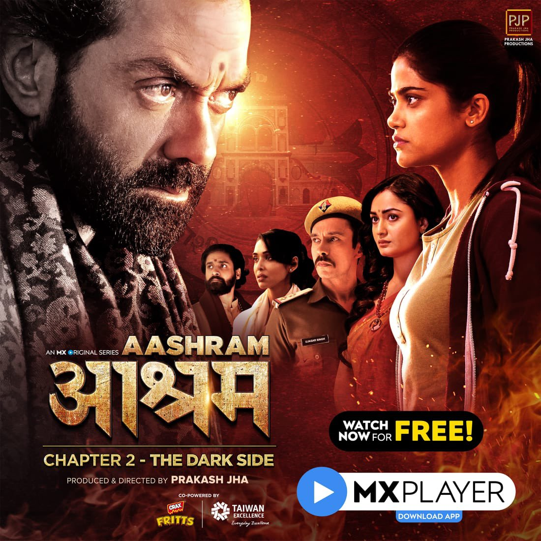 #AashramChapter2, all episodes out on @mxplayer. Watch now:  #Aashram #MXOriginalSeries #MXPlayer @prakashjha27 @AaditiPohankar @IamRoySanyal @DarshanKumaar @anupria_goenka @AdhyayanSsuman @iamtridha @vikkochhar @tusharpandeyx @iamsacchinshrof @PJP_Online
