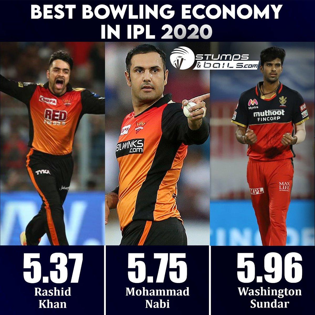 Superb bowlers stats in #IPL2020 🤩🥳 #RashidKhan #MohammadNabi #WashingtonSundar  Follow us @stumpnbails #IPL2020finals #IPLinUAE #IPLFinals #dream11iplfinal #Dream11IPL2020 #MI #DC #MIvsDC #DCvMI #MumbaiIndians #DelhiCapitals #RohitSharma #SRH #RCB