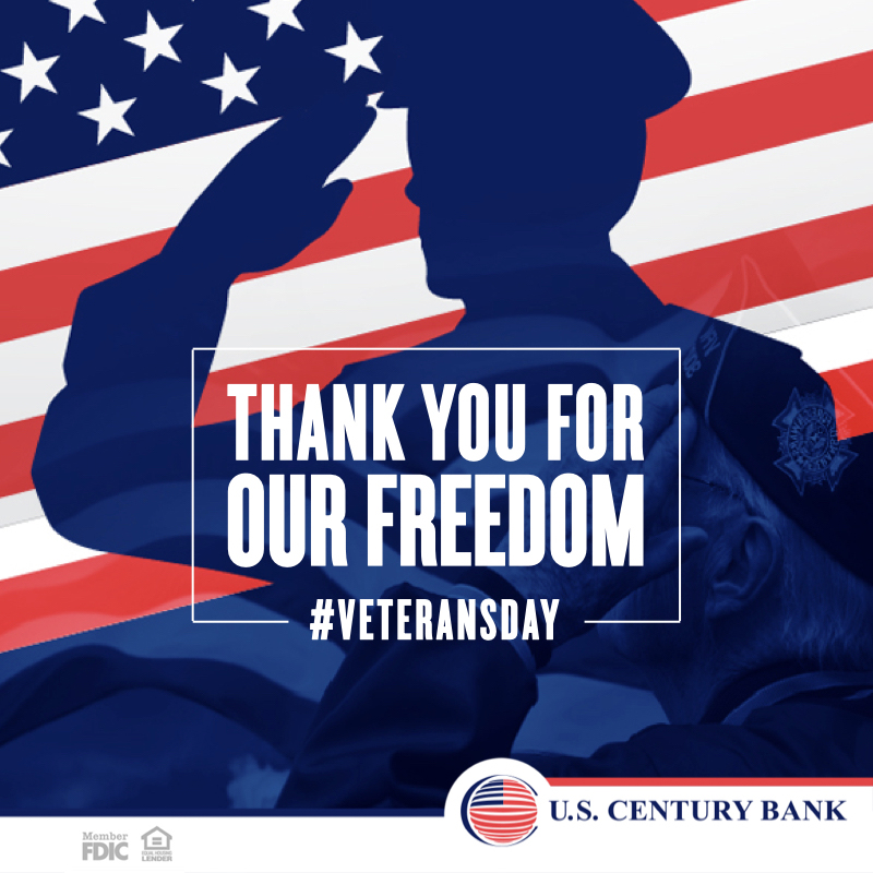 Every year we honor those brave men and women who sacrificed their life so we can continue living in peace and freedom. Thank you is not enough!!! #bankwisely#uscb#southflorida #itsthepeoplethatmakeus #veteransday #onlinebanking #bankfromhome #stayconnected #freedom