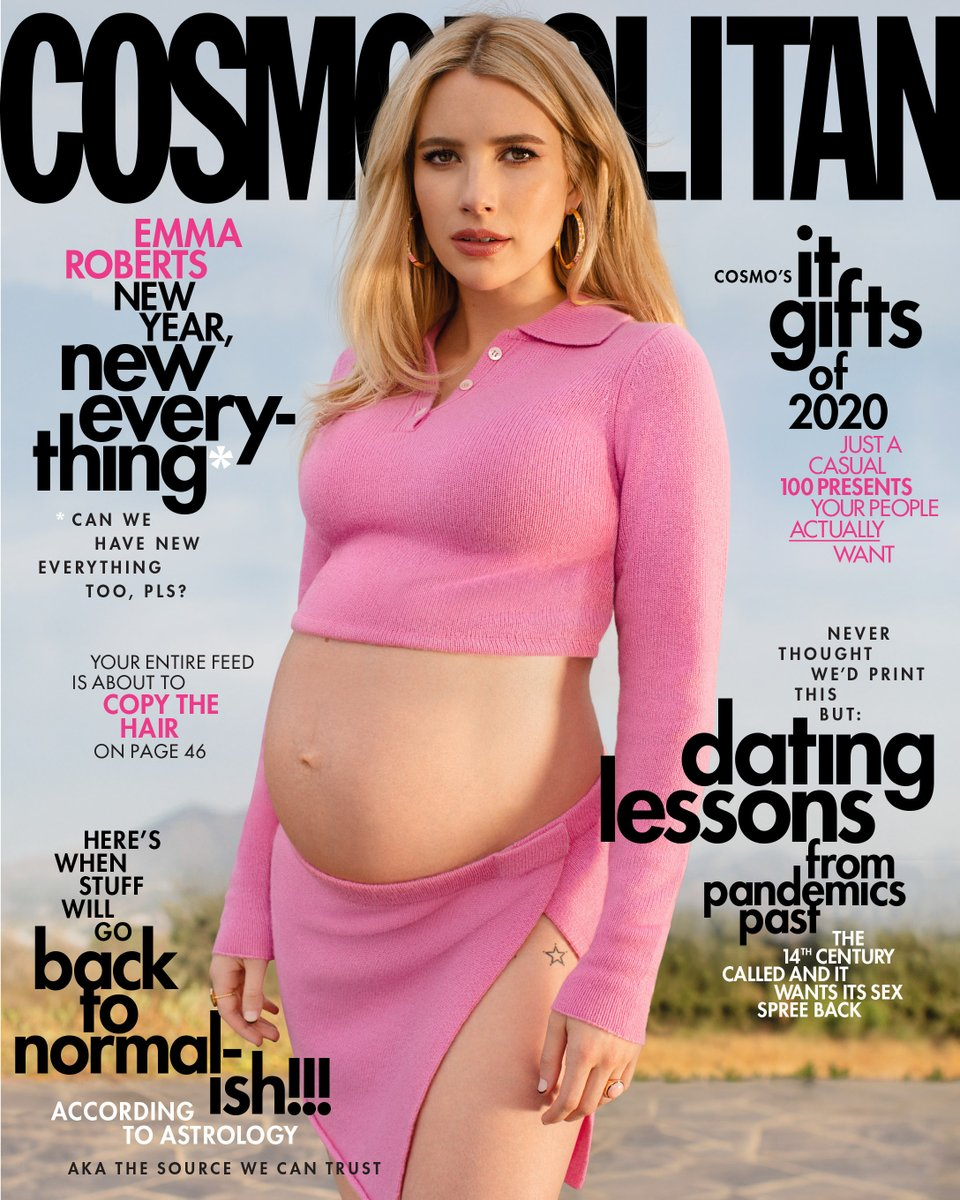 If we've learned anything from 2020, it's don't wait. Decembuary cover star @RobertsEmma stopped waiting about, oh, nine months ago—and she's ready for everything that's coming next. 🌟Check out Emma's interview with @smdanler here: