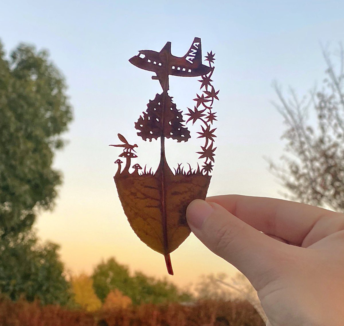葉っぱ 切り 絵