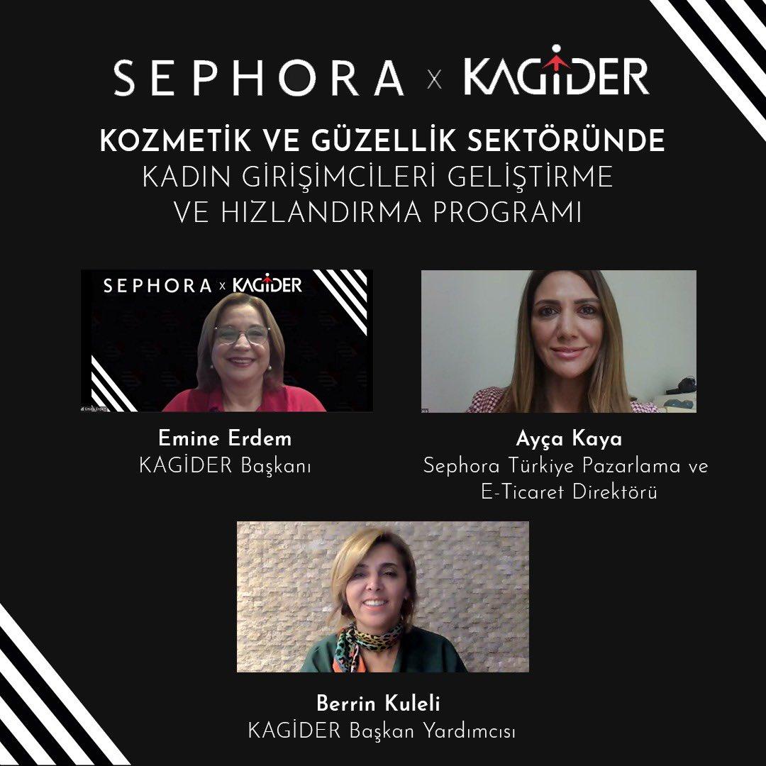 Kadınlara ilham verebilmek ve destek olmak amacıyla @SephoraTurkiye ile birlikte hayata geçirdiğimiz ''Kozmetik ve Güzellik Sektöründe Kadın Girişimcileri Geliştirme ve Hızlandırma Programı''nın ilk günü bugün gerçekleşti. Emeği geçen tüm eğitmenlerimize teşekkürlerimizle. https://t.co/EDDIDbnMOJ