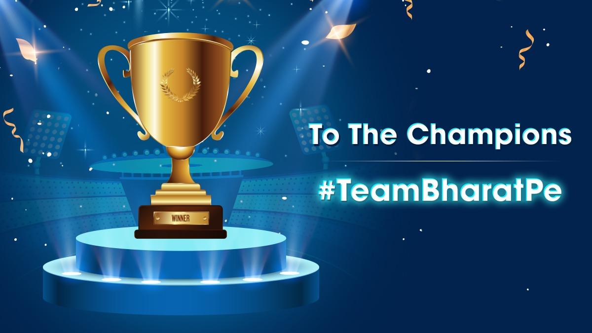 When you do business with the best, winning is practically guaranteed.  Cheers to #TeamBharatPe  #winners #Mumbai #CheerForTeamBharatPe #cricketfansindia #RohitSharma #champions #cricketstars #cricketteam #Business #BusinessGrowth #Merchants #UPI #shopkeepers