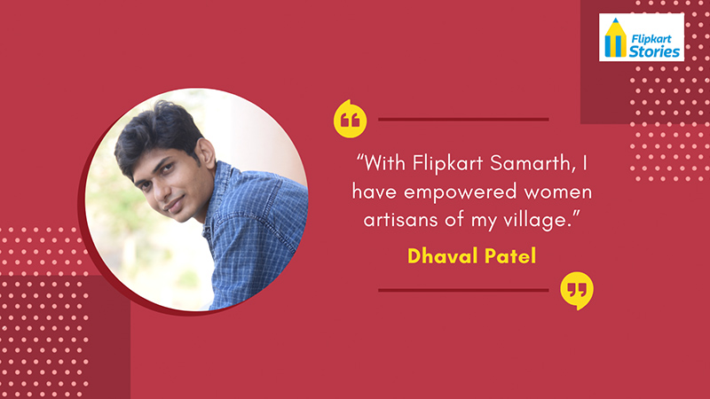 #Local4Diwali Ever since joining Flipkart, Dhaval Patel from #NavrangHandicraft says his daily orders have more than tripled to over 80 per day. Through this success & support from @Flipkart customers, he hopes to empower #WomenArtisans in his village: