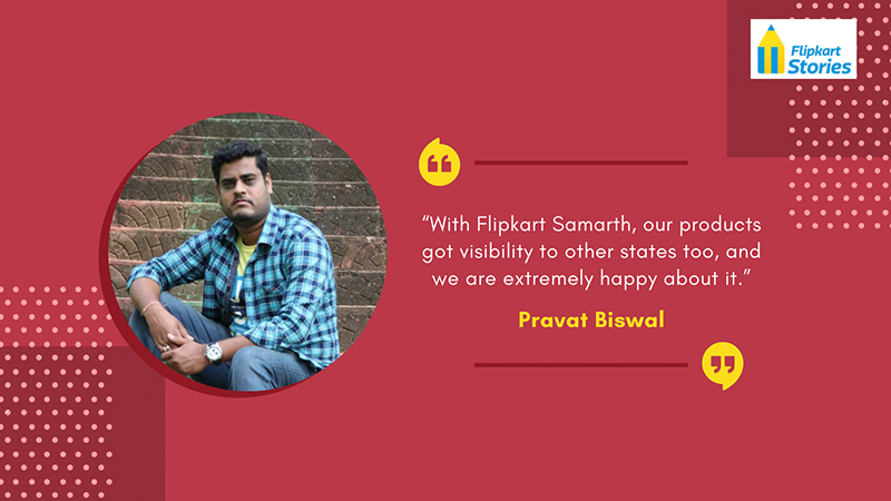 """#Local4Diwali Over 450 artisans enrolled with Utkalika are able to market their handicrafts beyond their home state to customers across India with @Flipkart. """"We are extremely happy about it,"""" says Pravat Biswal of the state emporium:  #FlipkartForIndia"""