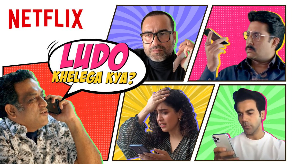 The cast of Ludo is sus. But Dada knows how to keep them on their toes.  @basuanurag @juniorbachchan @RajkummarRao @TripathiiPankaj @sanyamalhotra07 @fattysanashaikh @Pearle_Maaney #RohitSaraf