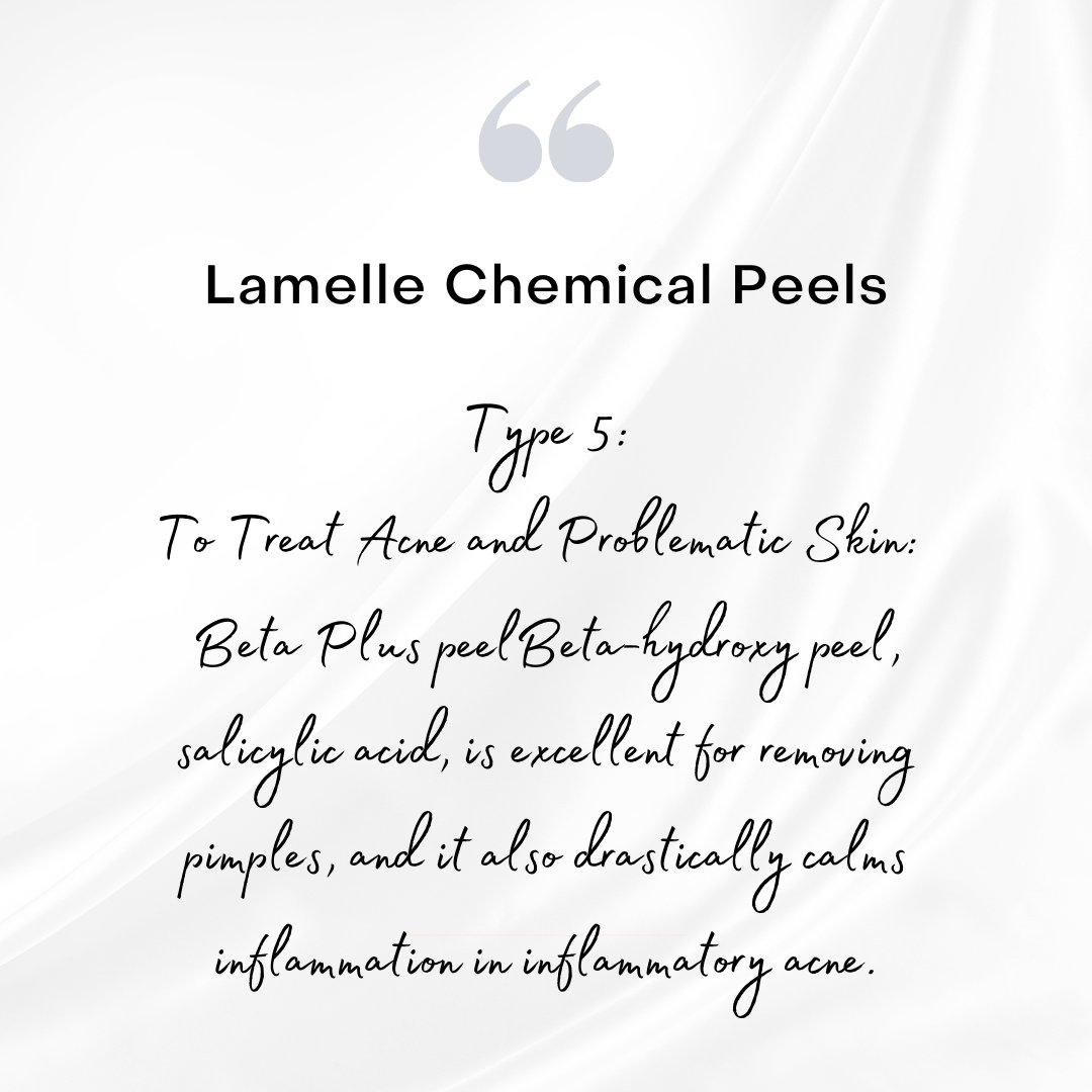 🌟 #LAMELLE CHEMICAL PEELS 🌟 #lamellersa #chemicalpeels #benoni  . TYPE 5: . TO TREAT #ACNE AND PROBLEMATIC SKIN . Beta-hydroxy #peel, #salicylic acid, is excellent for removing pimples, and it also drastically calms inflammation in inflammatory acne.