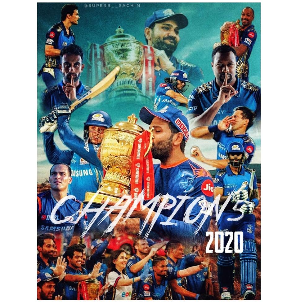 Congratulations @mipaltan  Well played @DelhiCapitals  🖐CHAMPIONS🖐  #IPL2020final #IPLfinal #MIvsDC #DelhiCapitals #MIvDC #DCvMI  @Shebas_10dulkar @sukriti_kuila @Sachin_rt_200