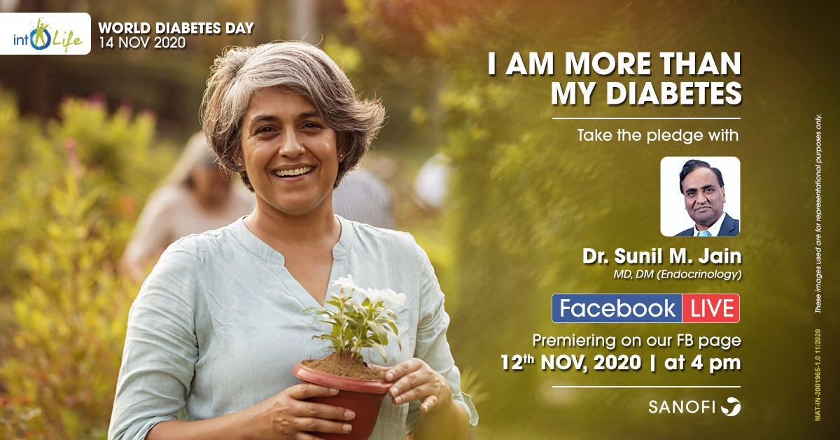Are you or your loved one suffering from diabetes? Our Facebook LIVE with Dr. Sunil M. Jain is what you need. With #WorldDiabetesDay around the corner, this LIVE will help you be more than your diabetes and truly live beyond it. #MoreThanMyDiabetes https://t.co/tVIkEds6ku https://t.co/kwkgZx0xNa