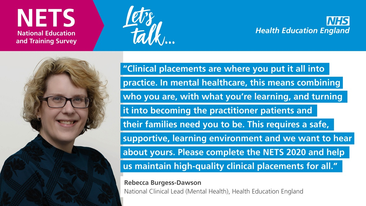 ❗️This #HEENETS survey on placements is open to all health and care learners in England including medical students and trainee doctors. Please complete it. Just extended to 7th December❗️
