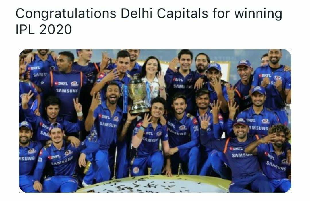 Congratulations #DCvMI