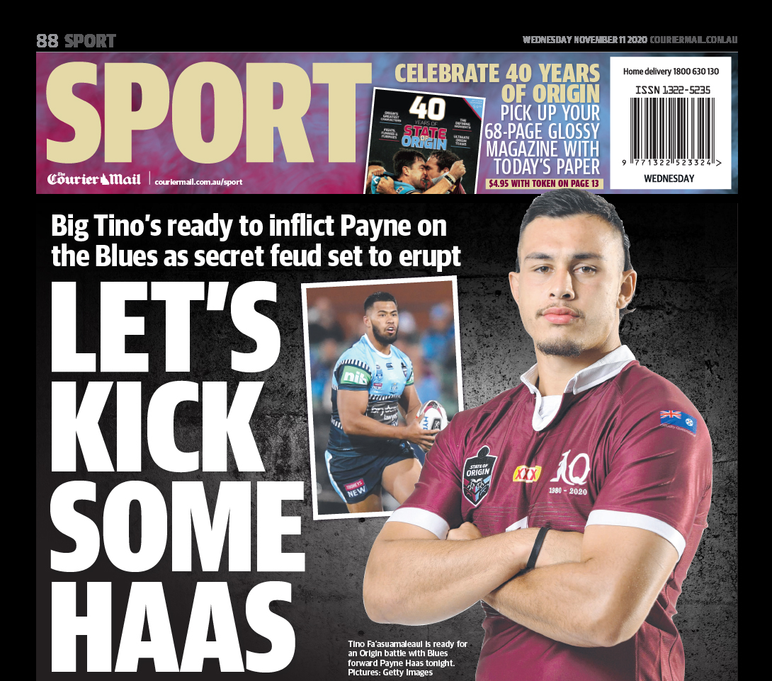 Courier Mail Sport On Twitter Wayne Bennett S Not Happy With The Courier Mail He S Sensationally Blamed Us For Igniting The State Of Origin Fight Between Payne Haas And Tino Fa Asuamaleaui Via Mcarayannis