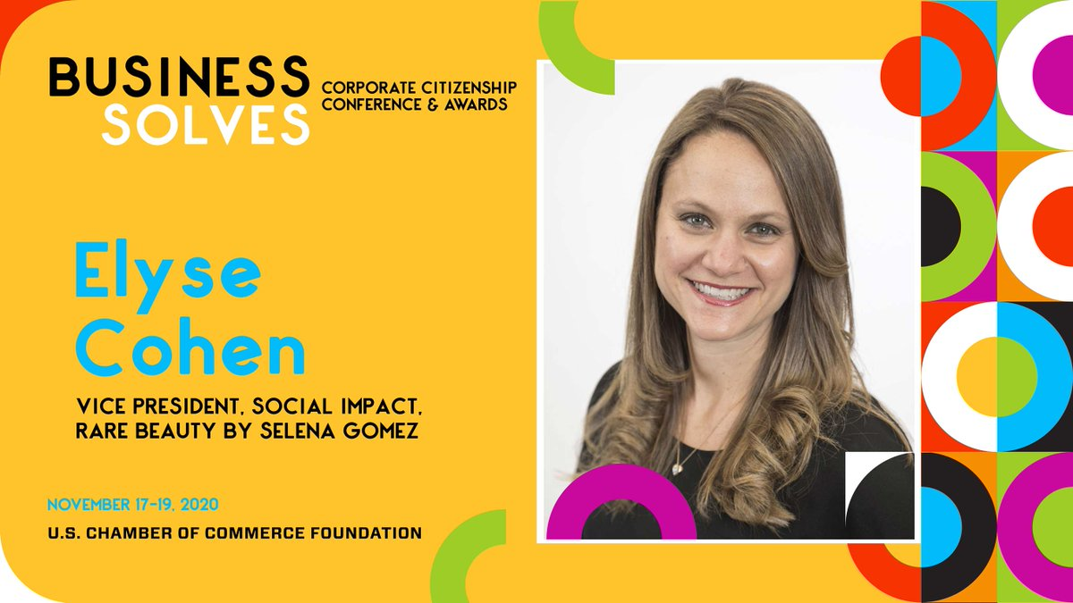 Excited to have @ElyseCohen, VP of Social Impact for Selena Gomez's @rarebeauty brand speak at #BusinessSolves on the role of the private sector to support individuals with their emotional & mental health needs during #COVID19 and beyond. Register now:
