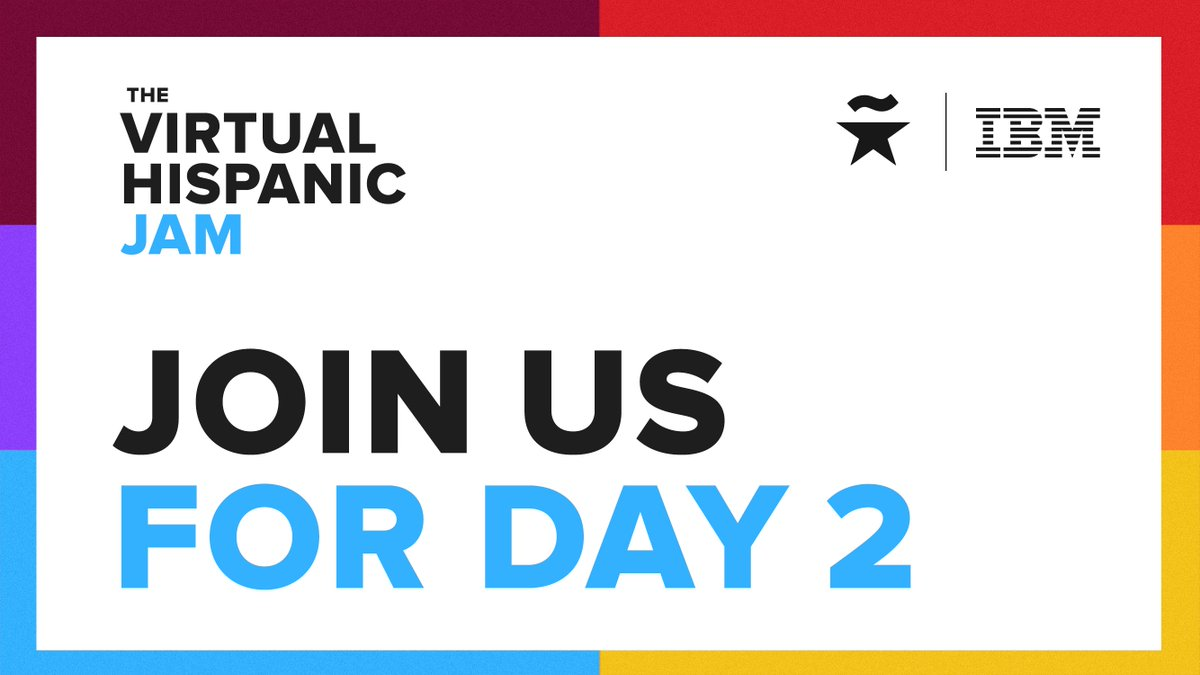 The Virtual Hispanic Jam continues! Join us for day 2 of this one of a kind event where you have the opportunity to engage in text-based conversations with Hispanic leaders and community allies on key topics for our community.    #HispanicStar