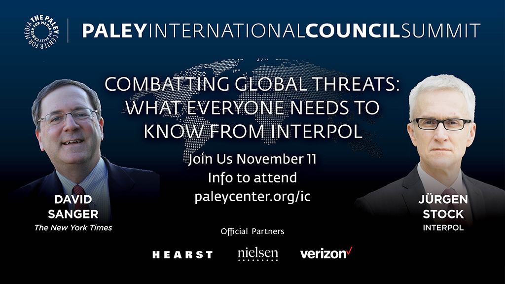 As more and more of our personal and financial data migrates online, the risk of cybercrime has increased exponentially.  @INTERPOL_SG  shares his thoughts on the biggest global security challenges with @SangerNYT. #PaleyIC