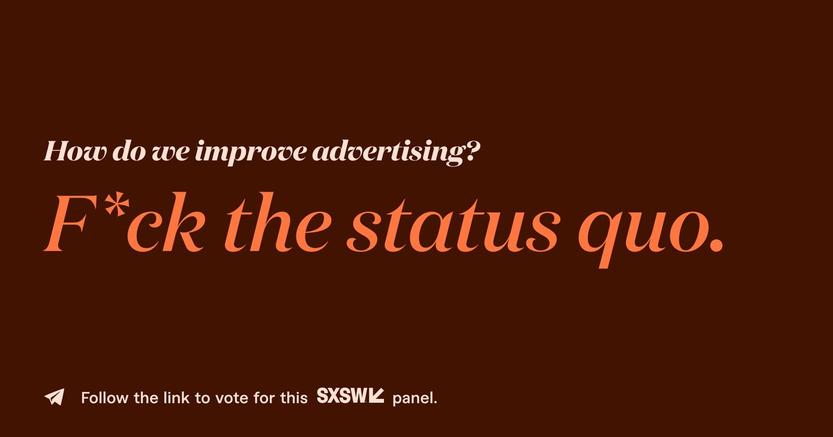 In this conversation, we are going to explore discrimination that exists in the creative world and what is needed for change. We will discuss what is needed from brands to move the needle, and how it should be done. #SXSW2021 https://t.co/wnHYo7mBEo https://t.co/ZBY241NdLp
