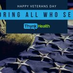 Image for the Tweet beginning: Happy Veterans Day from the