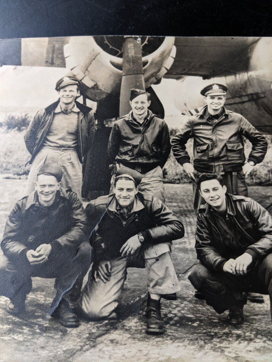 One more because I just love this picture. My Dad and his crew flew 65 missions over France in the B26 bomber he piloted. #VeteransDay2020