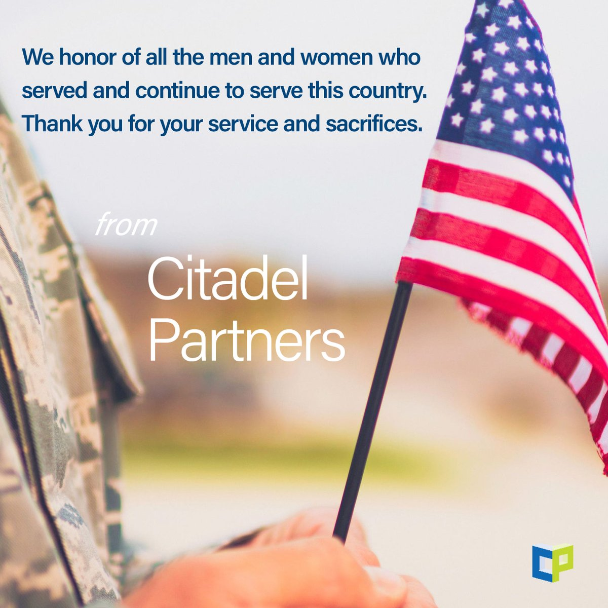 test Twitter Media - There is no greater debt of gratitude we owe as Americans than to those who have worn the uniform of the U.S. throughout history and fought for the freedoms we enjoy.  #veteransday #americanpride #citadelpartners #dallascommercialrealestate https://t.co/4UYVSI7bi1
