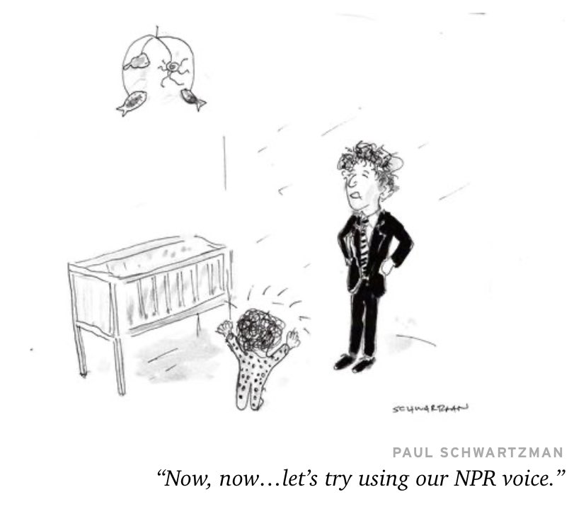 My latest cartoon in @AltaJournal, inspired by @nprscottsimon, @NPRmelissablock and (especially) @CoreyFlintoff