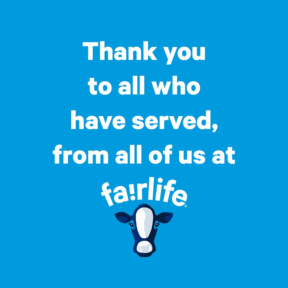 Happy Veterans Day to all our veterans here at fairlife and across the country. Thank you for your service! https://t.co/UXoKM9jV9X
