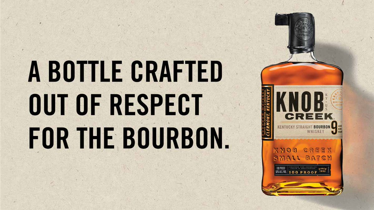 We've always put time and effort into our bourbon. Now, you can see it in our bottles. Introducing the new Knob Creek bottle, inspired by the handmade flask-like bottles of pre-prohibition whiskey.  #KnobCreek #EveryBitEarned #Whiskey #Bourbon #NewBottle #WhiskeyWednesday https://t.co/1XALYjrzU6