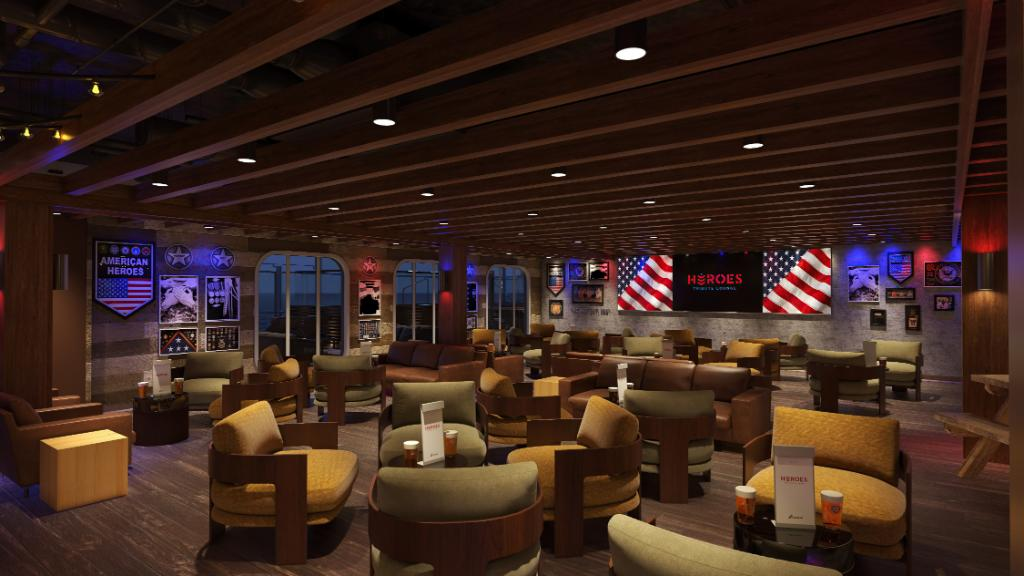 We have a place in our heart for military heroes and look forward to raising a glass to them in our Heroes Tribute Bar next year. 🍺  #VeteransDay