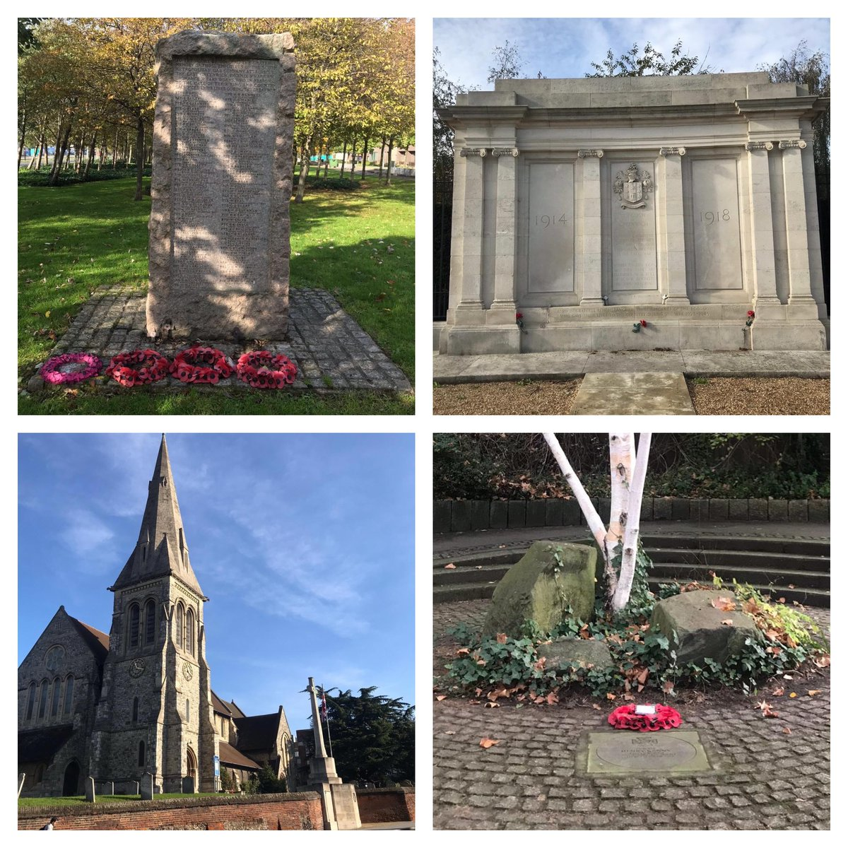 Usually @MeganRoseCable & I would be out & about checking our war memorials & VC stones, but this year has been a little different. Despite all that has taken place, it is still important we take time to remember this #ArmisticeDay #WeWillRememberThem #RemembranceDay2020