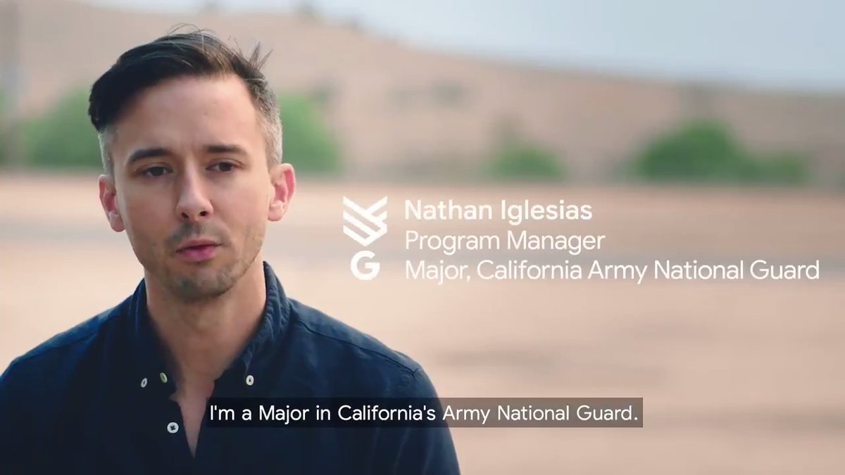This #VeteransDay, we thank our country's brave military members for their service. 💛   We're honored to have Googlers like Nathan, a Major in @CalGuard, who recently helped with the COVID-19 response and the California wildfires. Learn more →