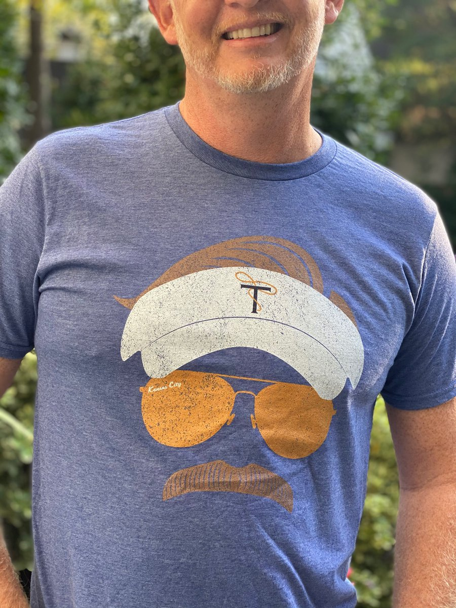 Steve's sporting my favorite new @TedLasso t-shirt from .   He said he could just grow the mustache and wear the visor and whistle .   Tempting, but no.   And, congrats to the team - Apple has already picked up season #3!