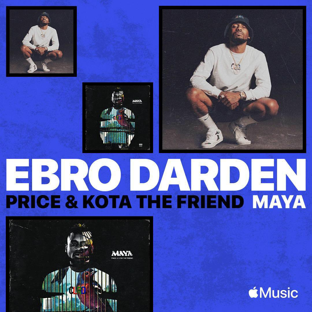So proud of the incredibly gifted @BOWprice for having his amazing song MAYA w/ @KotaTheFriend debuting on @oldmanebro show on @AppleMusic. Tune in to the show using the link in my bio to hear it playing at 3:55PM EST today!