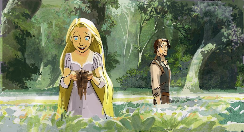 Concept art by Kevin Nelson for Tangled (2010), dir. Nathan Greno and Byron Howard, Walt Disney Animation Studios