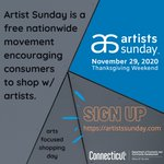 Image for the Tweet beginning: Support local artists! Artists Sunday