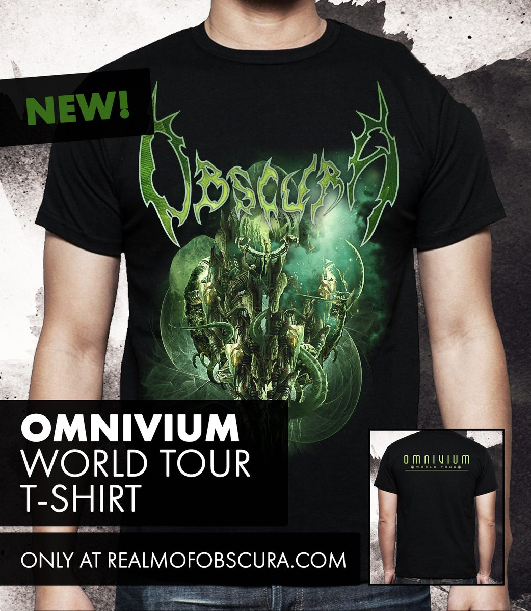 🚨 NEW: OMNIVIUM world tour shirt 🚨  Many of you were asking for it. Now we finally have this classic cover artwork shirt back in stock!  Head over to our webshop and get yours now: ➡️ https://t.co/DE7ExZpnsJ  #obscura #merch #omnivium #deathmetal #technicaldeathmetal https://t.co/T1mBj3Hf5U
