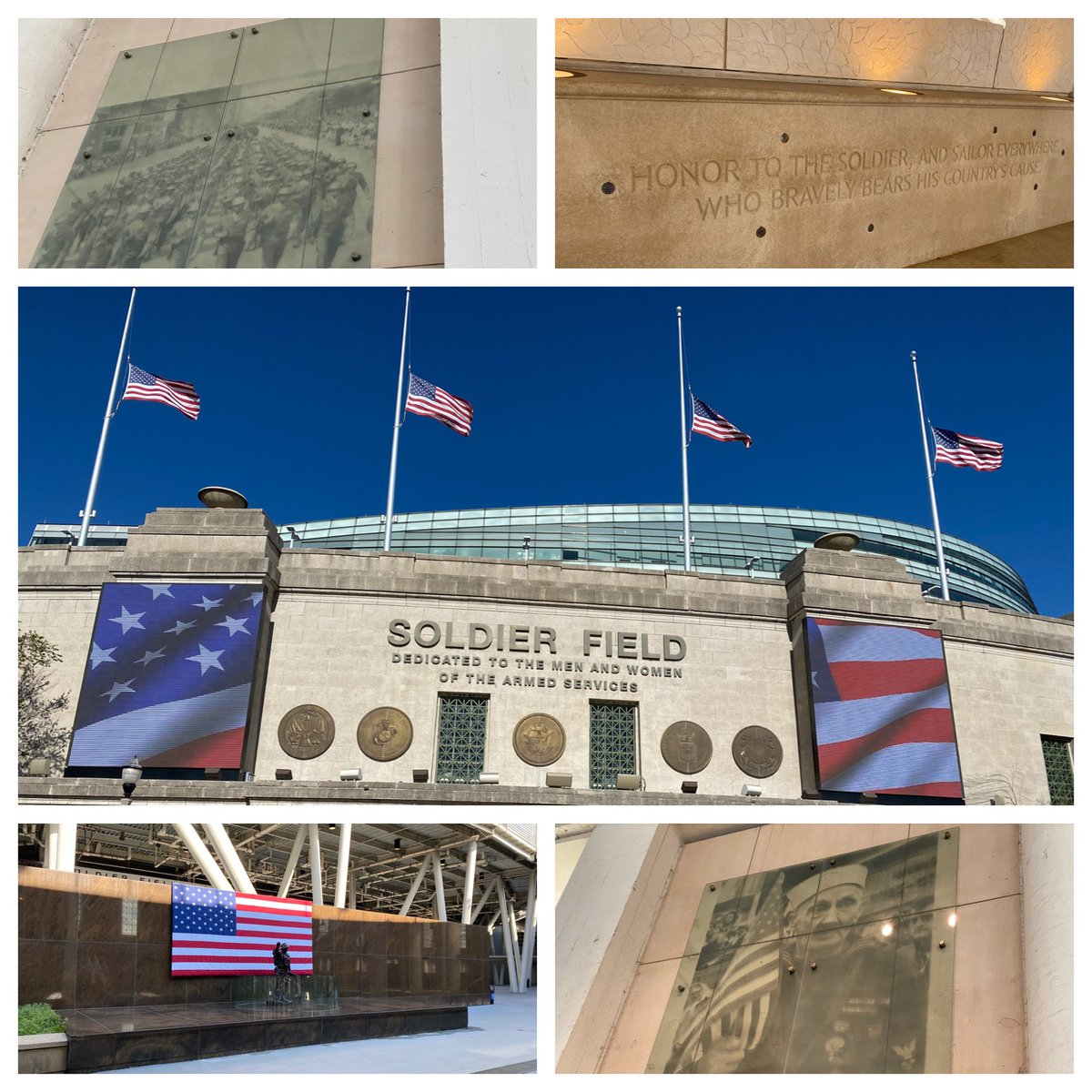 Soldier Field is a remarkable venue. Truly. The honor and spirit of military veterans permeate through the stadium. 🇺🇸🏈