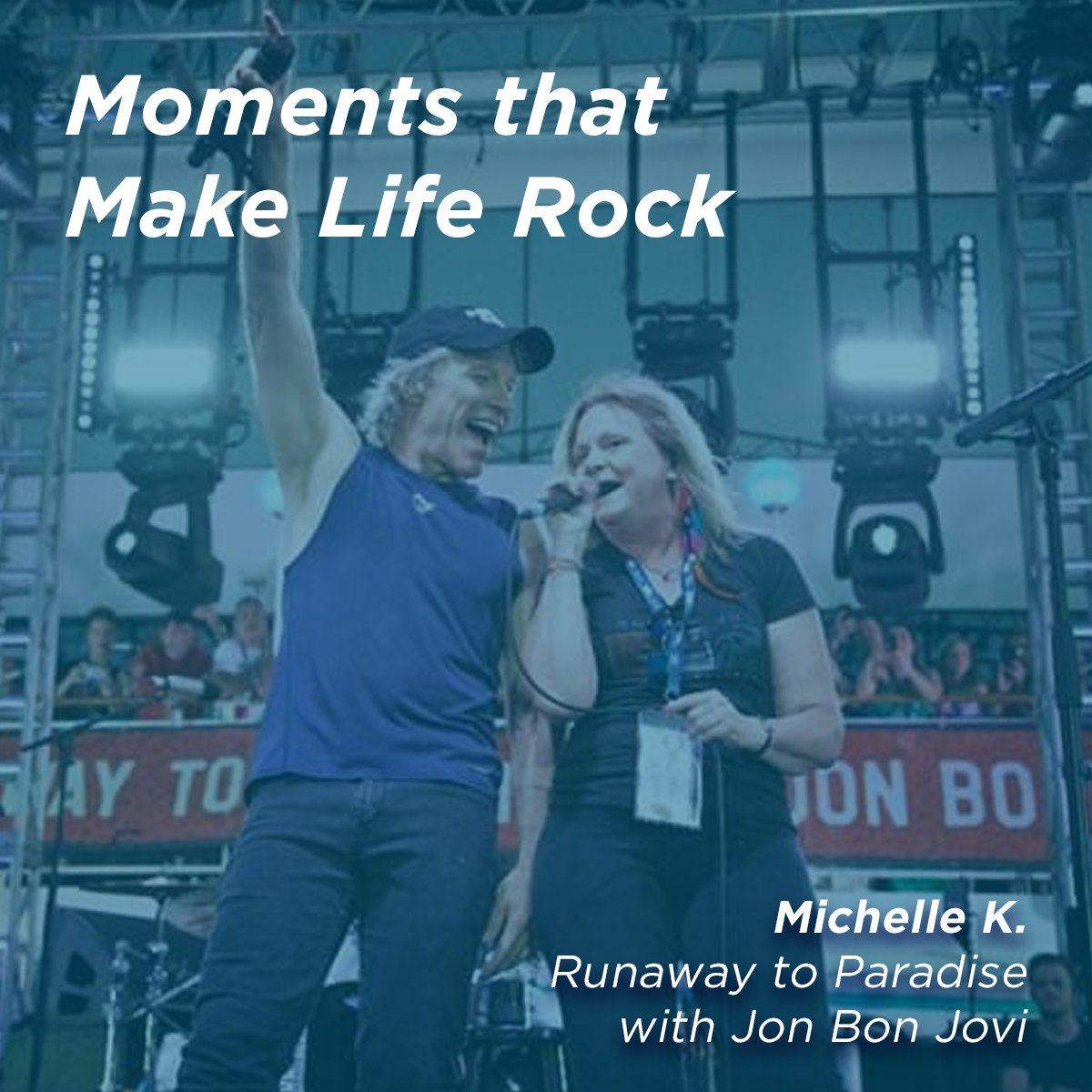 This was a once in a lifetime experience that I will be forever grateful for. - Michelle K Learn how Michelle lived her dream and got to sing next to Jon Bon Jovi himself! sixthman.net/moments #SXMLiveLoud