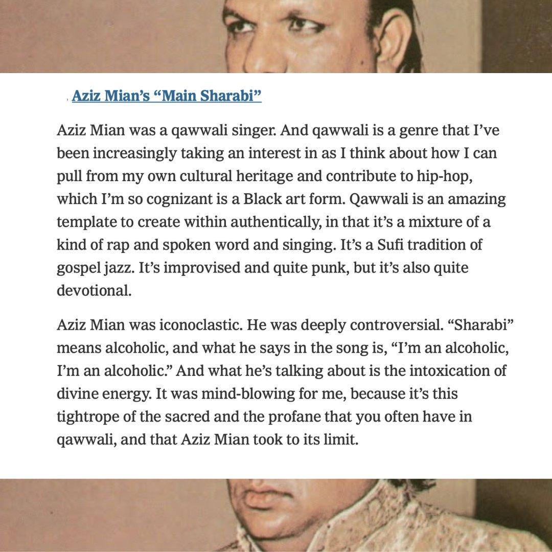 Aziz Mian's 'Main Sharabi'-  Aziz Mian was a qwwali singer. Aziz Mian was iconoclastic. He was deeply controversial.