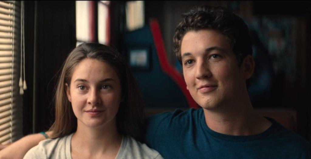 we're getting shailene woodley and miles teller together in a movie for the fifth time. we won