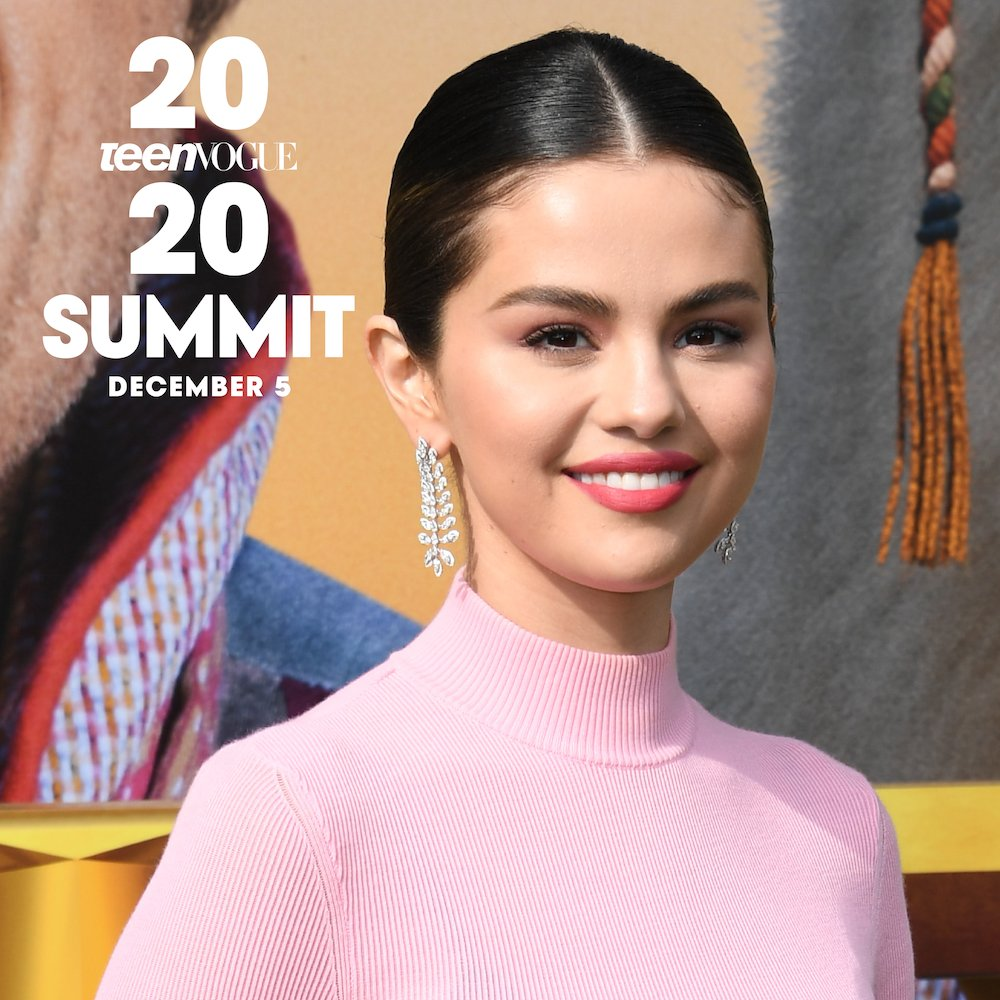 🎉 IT'S OFFICIAL! 🎉 The one and only @selenagomez will be the #TeenVogueSummit keynote speaker on December 5 🥰   Get your ticket to the inspiring, interactive virtual experience ↪️