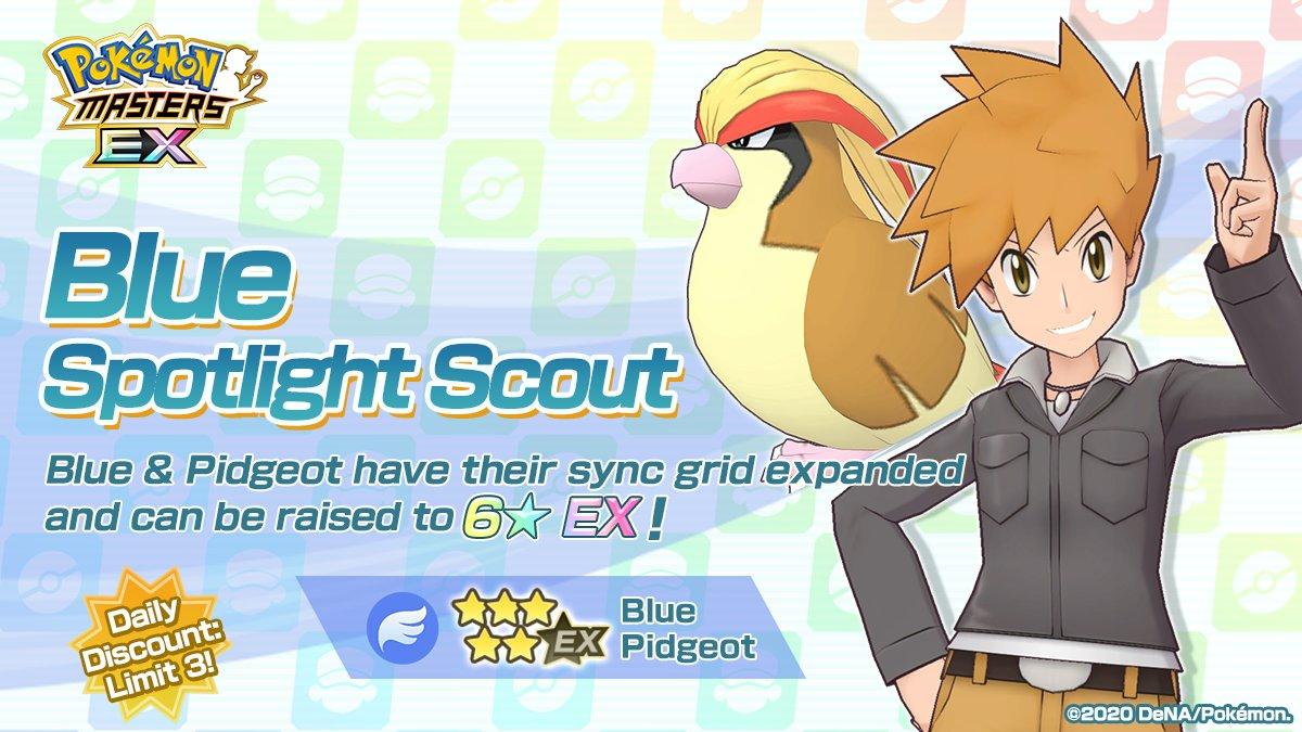 Pidgeot Azul Pokemon Masters