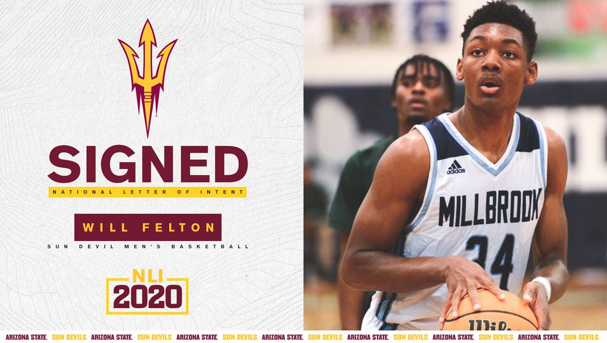 our first signee in the Class of 2021 ✍️ welcome to Tempe, Will Felton 🔱 @EasyFelton // #02V