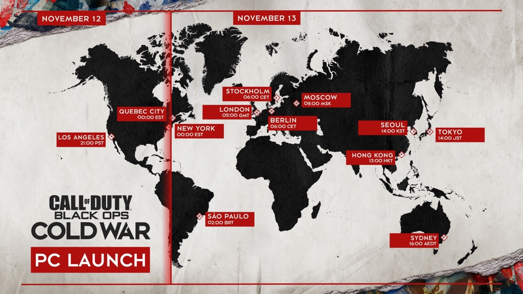 Black Ops Cold War PC Launch Times