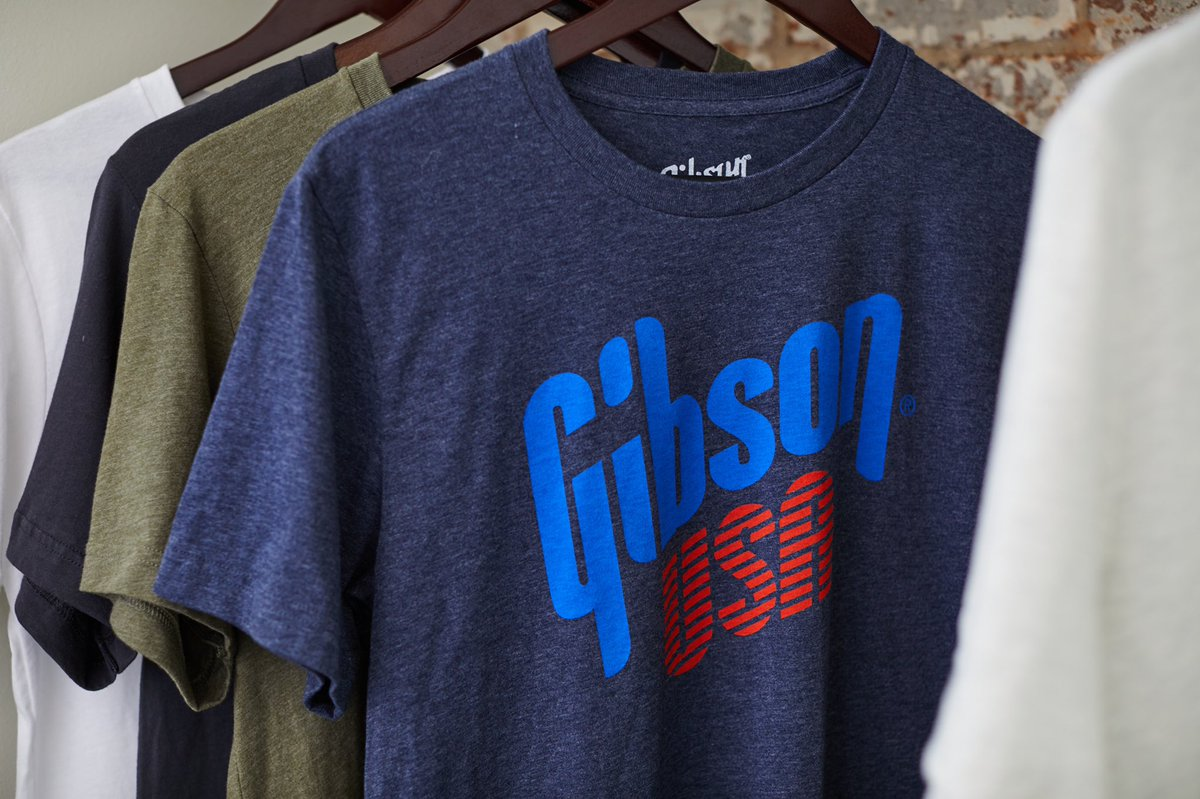 Add to your Gibson gear collection with our Gibson USA Tee! Head to  to get yours. #gibson #theoriginal