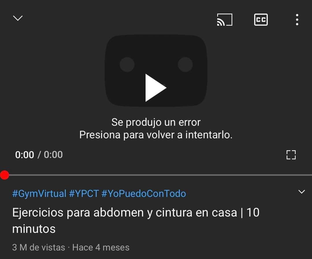Se cayó youtube banda, ni modo la vida fit se pospone hasta enero 😔  #YouTubeDOWN