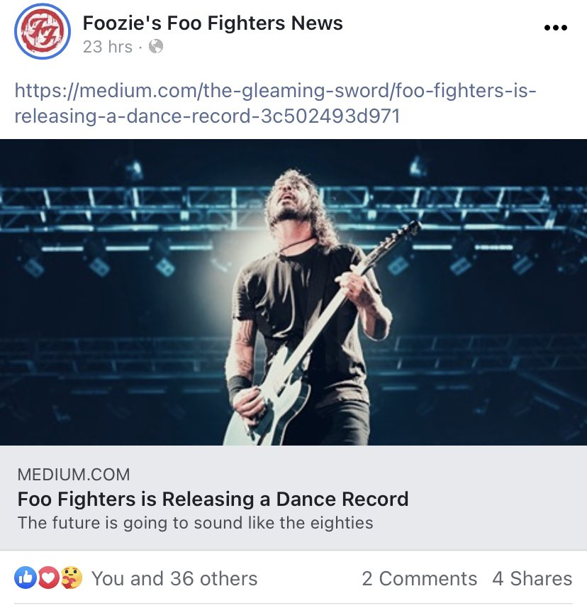 This is fun. I can't believe that fellow Foo Fighters fans are reading this story. Fyi, still not tired of #ShameShame  More music stories on @Gleaming_Sword   #FooFighters  #AskFoos #music #rockandroll #read #write